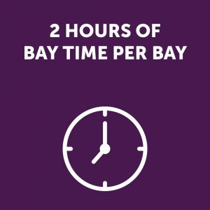 2 Hours of Bay Time Sign