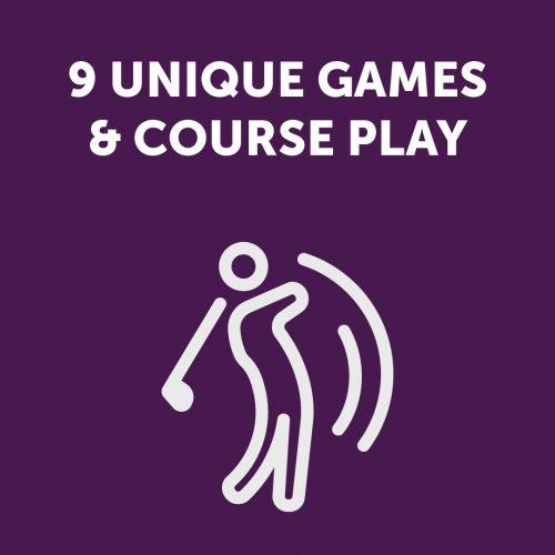9 Unique Games & Course Play Sign