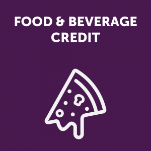 Food & Beverage Credit Sign