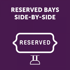 Reserved Bays Side-By-Side Sign